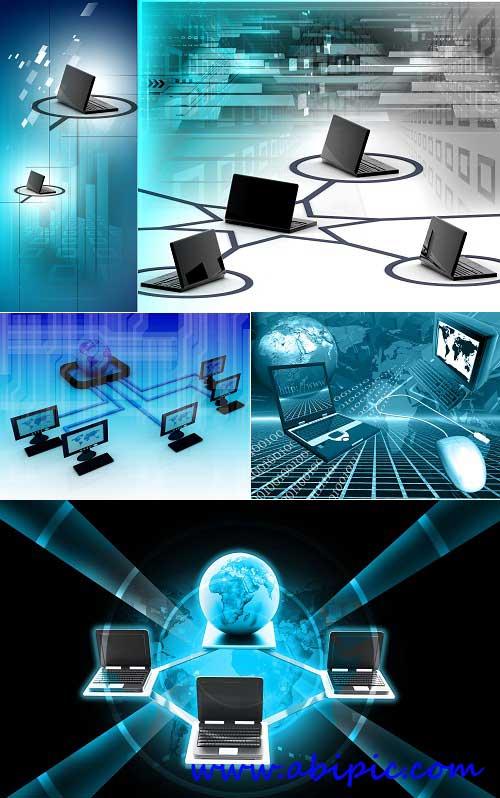 دانلود عکس استوک شبکه کامپیوتریStock Photo Computer network