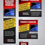 دانلود طرح لایه باز بنر تبلیغاتی در سایز های مختلف Stylish Web Banners