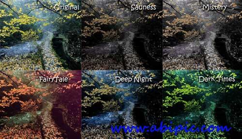 دانلود 5 اکشن فانتزی برای فتوشاپ Five Fantasy Photoshop Actions