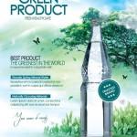 دانلود طرح لایه باز پوستر تبلیغ محصولات طبیعی Green Product Flyer