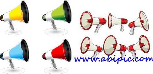 دانلود وکتور بلندگو Vectors - Modern speakers