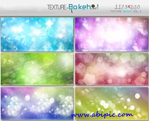 دانلود 6 تکسچر نورانی و درخشان بوکه Bokeh Textures Pack