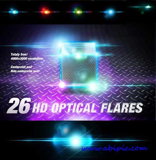 دانلود 31 لنز نورانی با کیفیت HD Lens Optical Flares Backgrounds