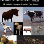دانلود طرح 3 بعدی جیوانات مختلف سری 2 3d animal models for 3ds Max