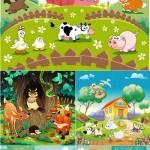 دانلود وکتورهای با طرح کودکانه سری 1 Children's Animated Vector Set