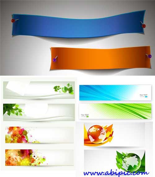 دانلود پک وکتور آماده بنر شماره 13 Banner Vector Set