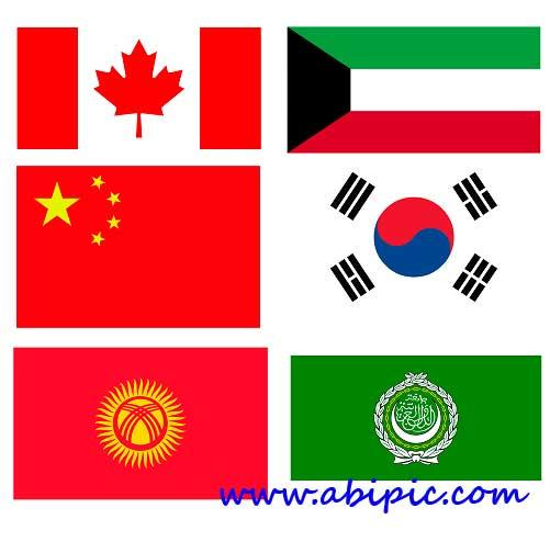 دانلود تصاویر با کیفیت HD از پرچم 99 کشور دنیا Countries Flags HD Wallpapers