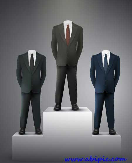 دانلود 25 طرح وکتور کت و شلوار Elegant Suits Shutter Stock