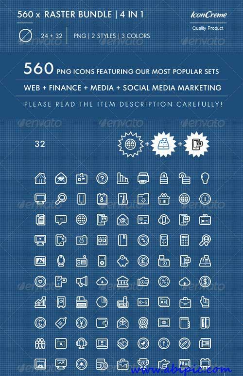 دانلود 560 ایکون مختلف برای طراحی سایت Essential Web Design Icons
