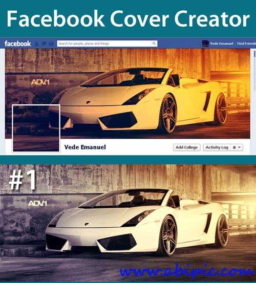 دانلود کاور و طرح لایه باز ساخت کاور تایم لاین فیس بوک Facebook Cover Actions