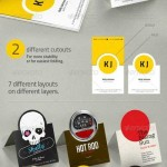 دانلود طرح وکتور کارت ویزیت تاشو Folding Business Card