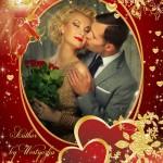 دانلود قاب عکس لایه باز مخصوص ولنتاین Frame for Photoshop Valentine's Day
