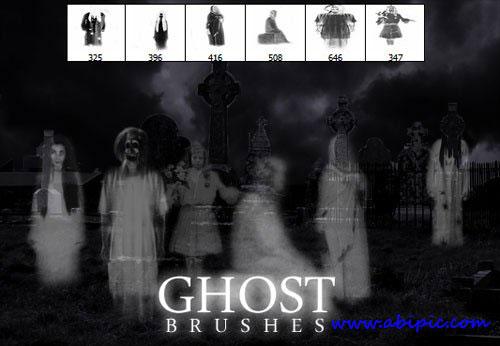 دانلود براش فتوشاپ روح Ghost Photoshop Brushes