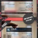دانلود طرح لایه باز کارت ویزیت شفاف سری 3 Transparent Business Card