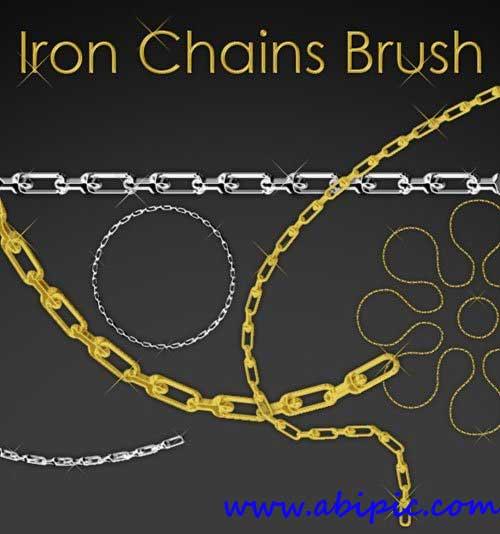 دانلود براش فتوشاپ ساخت زنجیر Iron Chains Photoshop Brushes