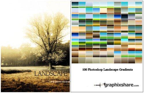 دانلود پک گرادینت های مخصوص منظره Landscape Photoshop Gradients