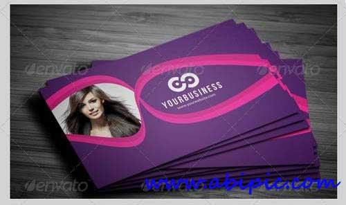 دانلود طرح لایه باز کارت ویزیت آرایشگاه زنانه Salon Business Card