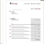 دانلود طرح لایه باز فاکتور فروش و صورتحساب Modern Single Invoice
