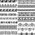 دانلود وکتور کادر و حاشیه تزئینی شماره 9 Vectors – Various Ornament Borders