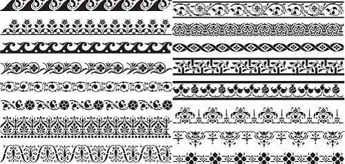 دانلود وکتور کادر و حاشیه تزئینی شماره 9 Vectors   Various Ornament Borders