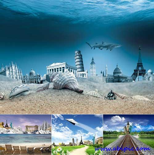 دانلود عکس استوک توریستی و گردشگری سری 2 Stock Photo Around the world
