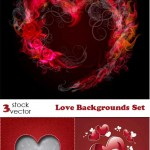 دانلود وکتور بک گراند عاشقانه Vectors – Love Backgrounds