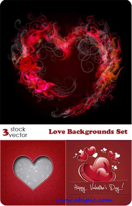 دانلود وکتور بک گراند عاشقانه Vectors - Love Backgrounds