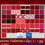 دانلود پترن های رمانتیک و عاشقانه فتوشاپ Valentine Day Photoshop Patterns