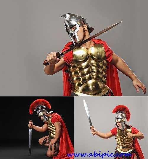 دانلود عکس استوک سرباز لژیون رومی knight Legion - Stock photo