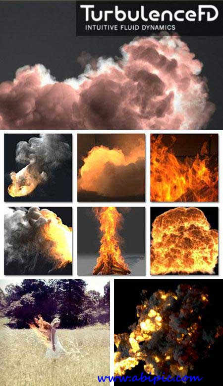 دانلود پلاگین ساخت دود و آتش سینما 4 بعدی Turbulence FD 0.4 Plugin Cinema 4D