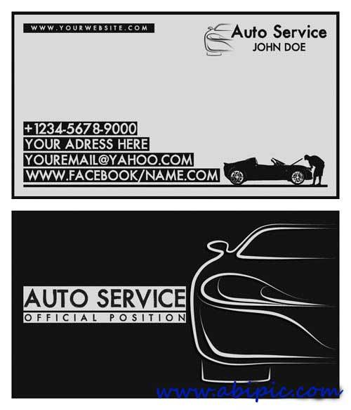 دانلود طرح لایه باز کارت ویزیت تعمیرگاه ماشین Auto service Business Card