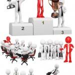 دانلود عکس استوک آدمک های سه بعدی سری 3 Stock photo business peoples 3d