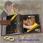 دانلود آلبوم عکس عروسی شماره 11 Wedding Photobook Gold and Brown