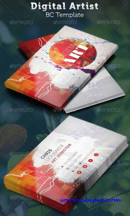دانلود کارت ویزیت طراحان دیجیتالی Digital Artist Business Card Template