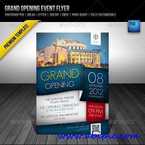 دانلود پوستر لایه باز افتتاح یک پروژه Grand Opening Event Flyer