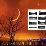 دانلود براش زیبای فتوشاپ منظره و چشم انداز Landscape Photoshop Brushes