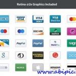 دانلود آیکون های کارت های اعتباری Credit Card Retina Icons