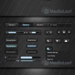 دانلود طرح لایه باز ابزارهای طراحی سایت MediaLoot – Illuminate Dark UI Kit