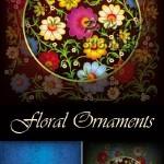 دانلود وکتور عناصر طراحی گلدار National Floral Ornaments Vector
