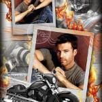 دانلود قاب عکس لایه باز آقایان شماره 5 Photo frame – Harley Davidson