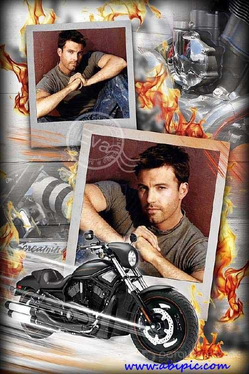 دانلود قاب عکس لایه باز آقایان شماره 4 Photo frame - Harley Davidson