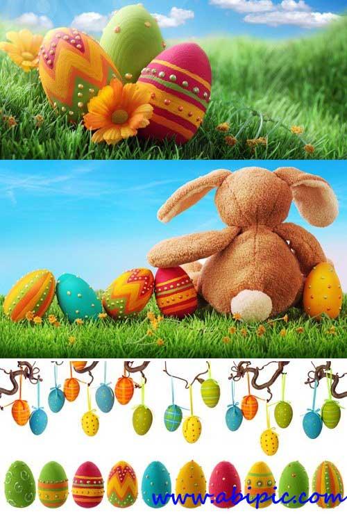 دانلود تصاویر تخم مرغ رنگی برای عید نوروز شماره 2 Stock Photos - Easter Egg