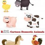 دانلود طرح وکتور حیوانات اهلی Vectors – Cartoon Domestic Animals