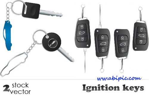 دانلود طرح وکتور جا سوئیچی Vectors - Ignition keys