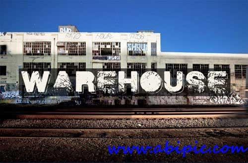 دانلود فونت انگلیسی Warehouse فونتی با طرح گرانج