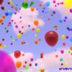 دانلود ویدئو فوتیج پرواز بادکنک Alpha channel footage – Balloons