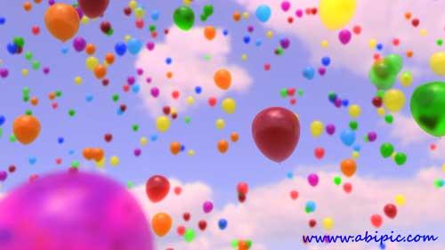 دانلود ویدئو فوتیج پرواز بادکنک Alpha channel footage - Balloons