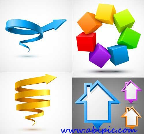 دانلود المان های هندسی طراحی وکتور Geometrical Elements for Vector Design