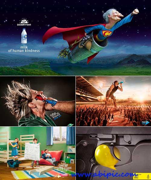 دانلود مجموعه طرح های خلاقانه سری 8 Creative advertisments