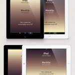 دانلود موک آپ آی پد رتینا iPad Retina Mockup PSD